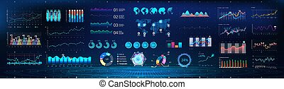 Colorful infographics template for business. UI Future