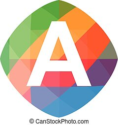 colorful initial A icon