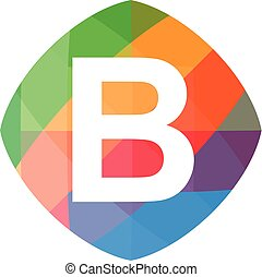 colorful initial B icon