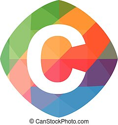 colorful initial C icon