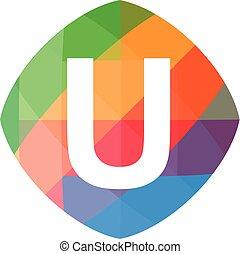 colorful initial U icon