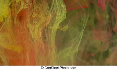 Colorful ink paint background in the water, ink flow underwater