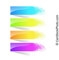 Colorful ink splash banner.