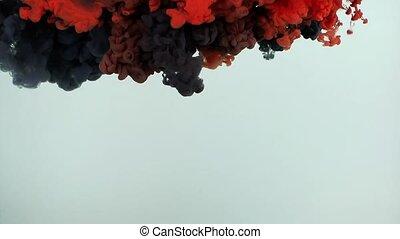 Colorful Ink Splash in Underwater