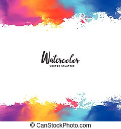 colorful ink splatter vector grunge background