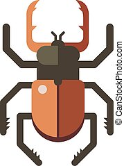 Colorful insects vector stag beetle