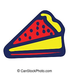 Colorful Isolated Doodle Sketch Vector Illustration. Hand-Drawn Pie.