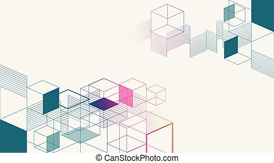 Colorful isometric geometric abstract background
