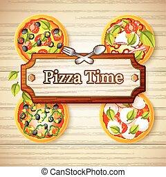 Colorful Italian Food Concept