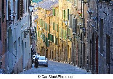 Colorful Italian Street Scene
