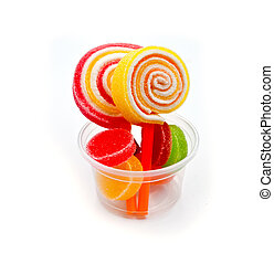 colorful jelly candies.