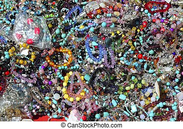 colorful jewelry pattern texture macro many colors