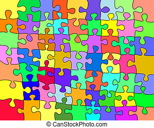 Background illustration of a colorful jigsaw