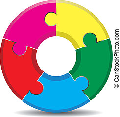 jigsaw - colorful jigsaw