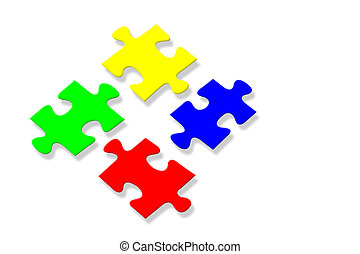 Colorful jigsaw puzzle background