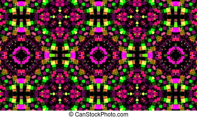 Colorful Kaleidoscopic Video Background. Abstract backdrop.