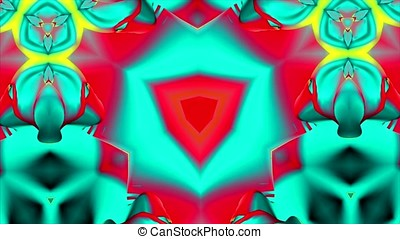 Colorful Kaleidoscopic Video Background Loop. Colorful kaleidoscopic patterns quickly change shape. Organic Low Poly Patterns. Complex geometries flow smoothly, seamlessly. A lot of colors and nice lighting