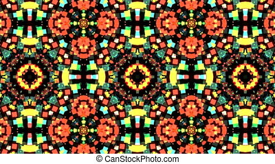 Colorful Kaleidoscopic Video Background. Abstract backdrop....
