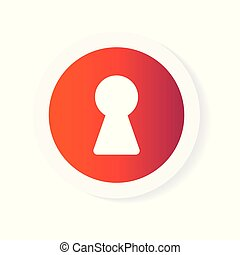 colorful keyhole icon- vector illustration