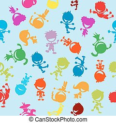 colorful kids pattern