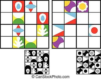 Colorful kids sudoku puzzle