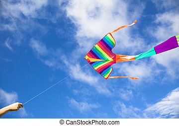 colorful kite flying in the sky