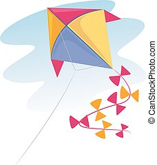 Colorful Kite - Vector Illustration of a colorful Kite...
