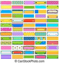 Colorful Kitsch banner jumbo collection - illustration of...