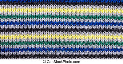 Colorful knitting background close up
