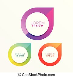 colorful label design with text space