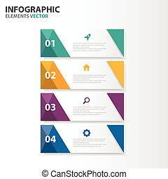 Colorful label Infographic elements