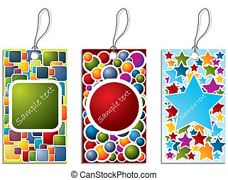 Colorful label set