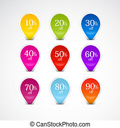 Colorful Labels, Tags Set