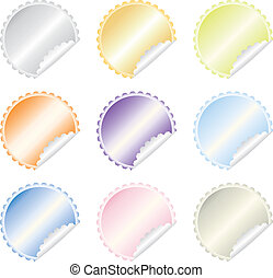 colorful  labels vector set