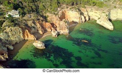 Colorful landscape of ocean coast