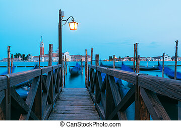 Colorful landscape with wooden pier
