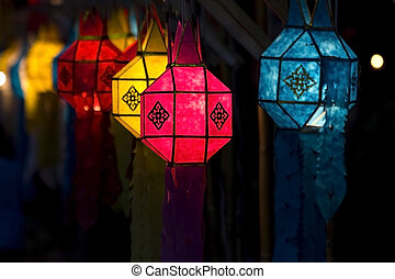 Yee Peng Festival - Colorful Lantern Festival or Yee Peng...