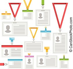 colorful lanyards and ID Cards - Super set of colorful...