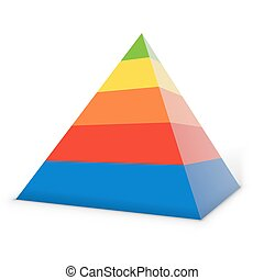 Colorful layered pyramid