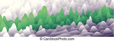 Colorful layers in gradient texture vector banner, Abstract background design for website