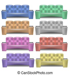 Colorful  Leather Comfortable Soft Sofa