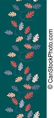 Colorful leaves in a vertical seamless border