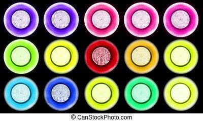 Colorful Led Lights Flashing 1 Real Light Panels