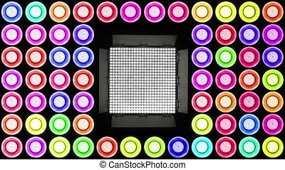 Colorful Led Lights Flashing 3 Real Light Panels