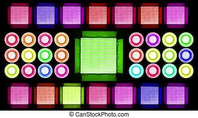 Colorful Led Lights Flashing 4 Real Light Panels