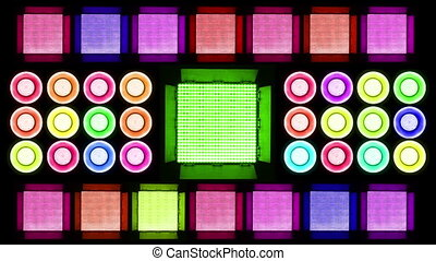 Colorful Led Lights Flashing 4 Real Light Panels
