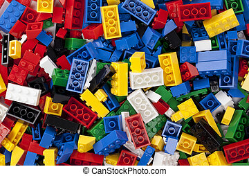 colorful legos - Colorful legos in a macro image