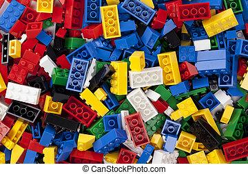 colorful legos - Colorful legos in a macro image