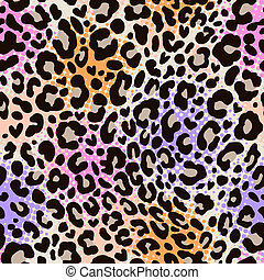 colorful leo print - seamless background