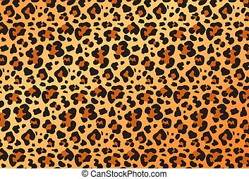 Colorful leopard animal print design in full frame for use as a design template, background or element, vector illustration